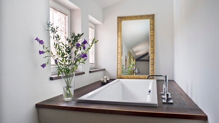 Einfamilienhaus in Perchtoldsdorf bei Wien:  Badezimmer von WUNSCHHAUS