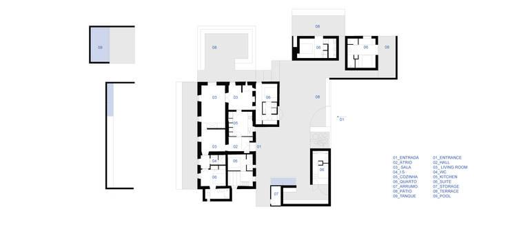 บ้านและที่อยู่อาศัย by atelier Rua - Arquitectos