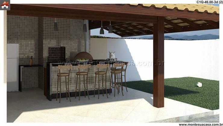 Quiosque – churrasqueira + quarto:   por Monte Sua Casa