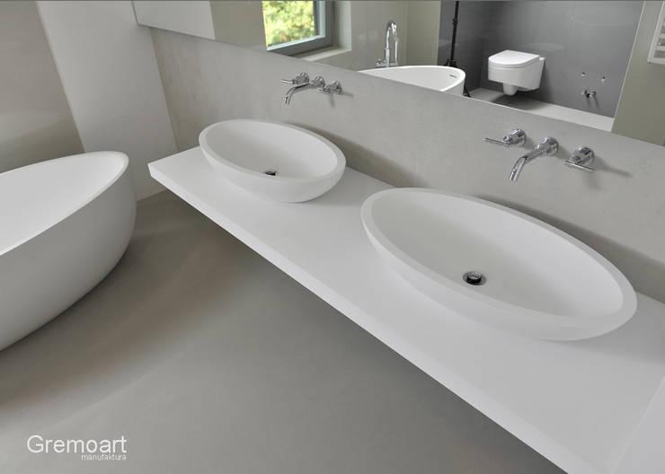 Umywalka elipsa nablatowa: styl , w kategorii  zaprojektowany przez Gremo art,Nowoczesny