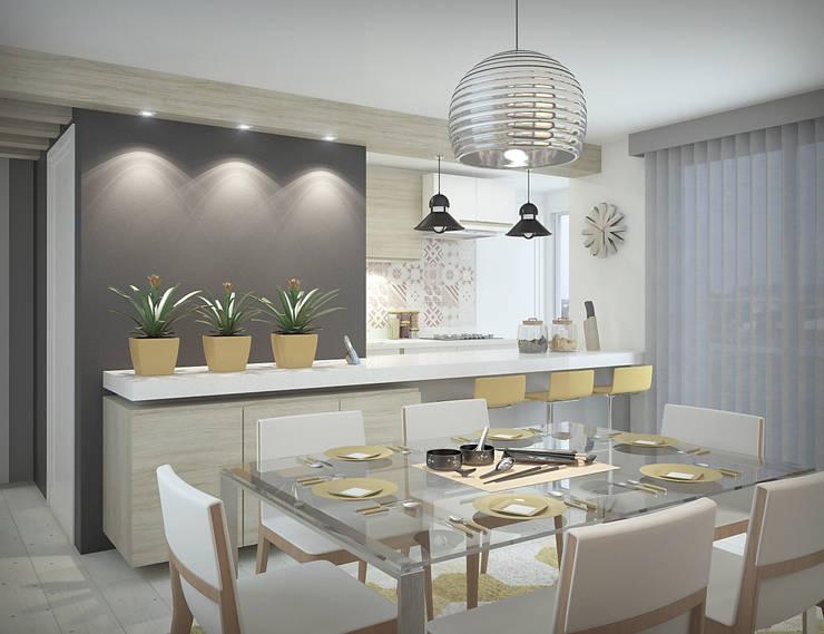 Apartamento #101: Salas de jantar  por studio vtx