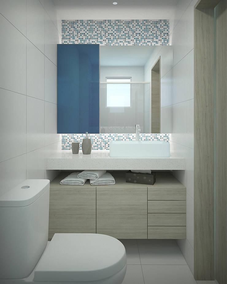 Apartamento #101: Banheiros  por studio vtx
