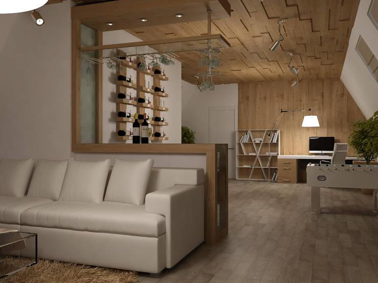 Cave à vin de style  par Tatiana Zaitseva Design Studio
