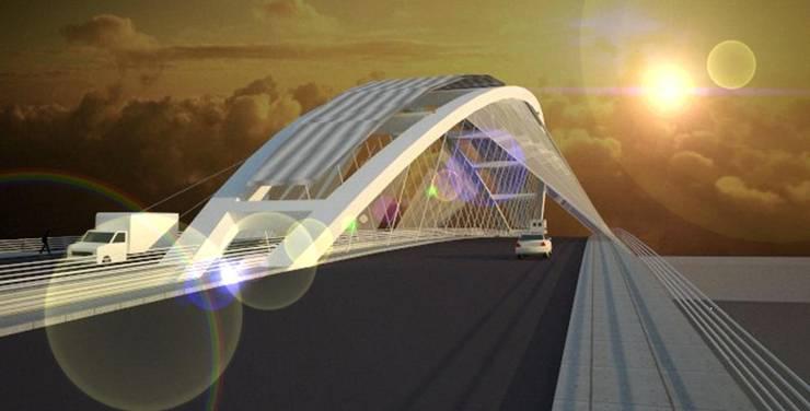 puente Santiago - La banda:  de estilo  por Arq. Jose F. Correa Correa,