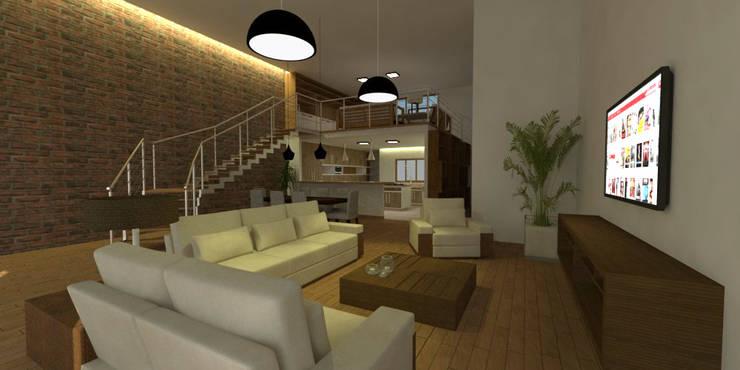 Sala de Estar no Loft: Salas de estar  por Studio 21