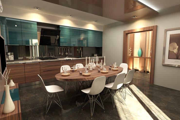 Projekty,  Kuchnia zaprojektowane przez TELOS İÇ MİMARLIK VE TASARIM