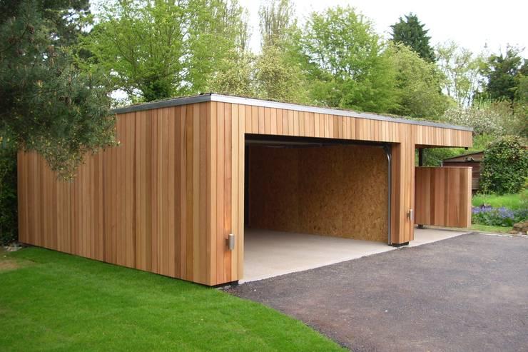 Garage préfabriqué de style  par ecospace españa