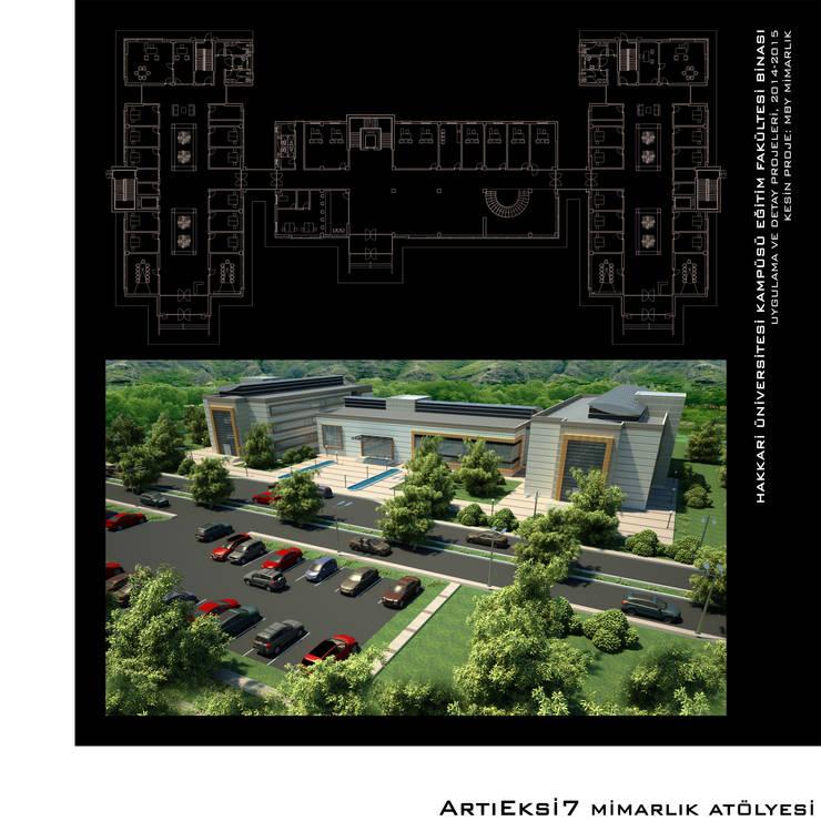 ArtıEksi7 Mimarlık Atölyesi – Hakkari Üniversitesi Eğitim Fakültesi:  tarz Okullar, Modern