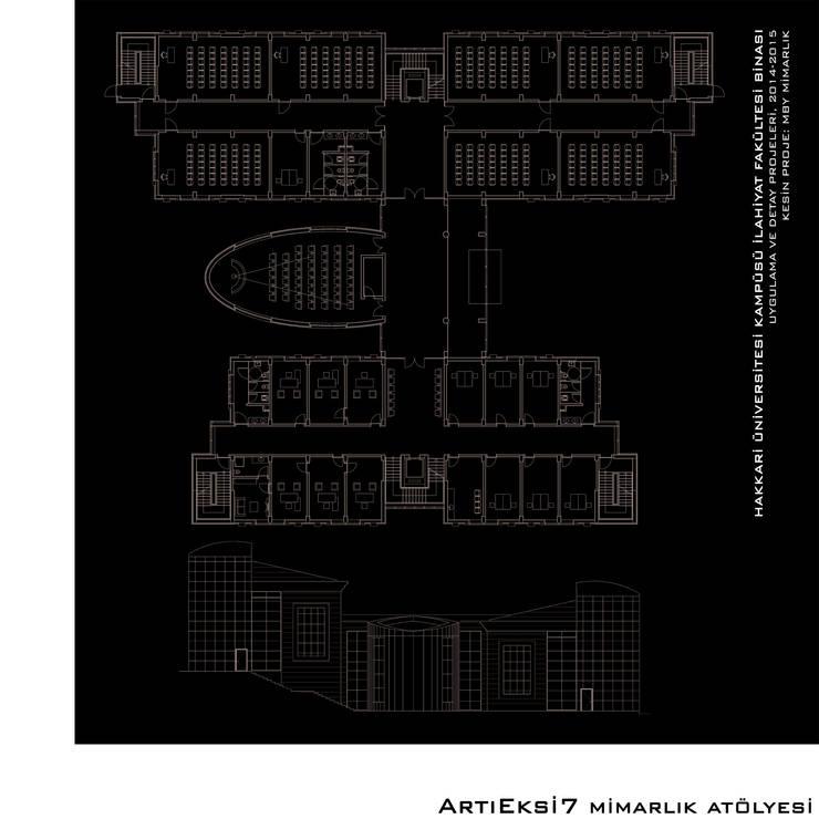 ArtıEksi7 Mimarlık Atölyesi – Hakkari Üniversitesi İlahiyat Fakültesi:  tarz Okullar, Modern