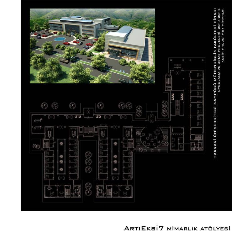 ArtıEksi7 Mimarlık Atölyesi – Hakkari Üniversitesi Mühendislik Fakültesi:  tarz Okullar, Modern