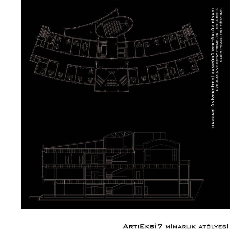 ArtıEksi7 Mimarlık Atölyesi – Hakkari Üniversitesi Rektörlük:  tarz Okullar, Modern