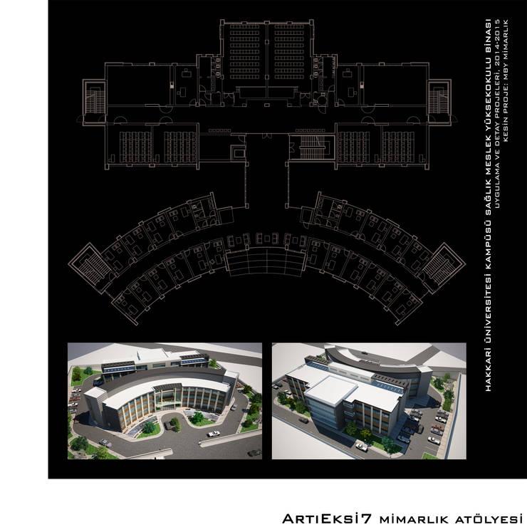 ArtıEksi7 Mimarlık Atölyesi – Hakkari Üniversitesi Sağlık Meslek Yüksek Okulu:  tarz Okullar, Modern