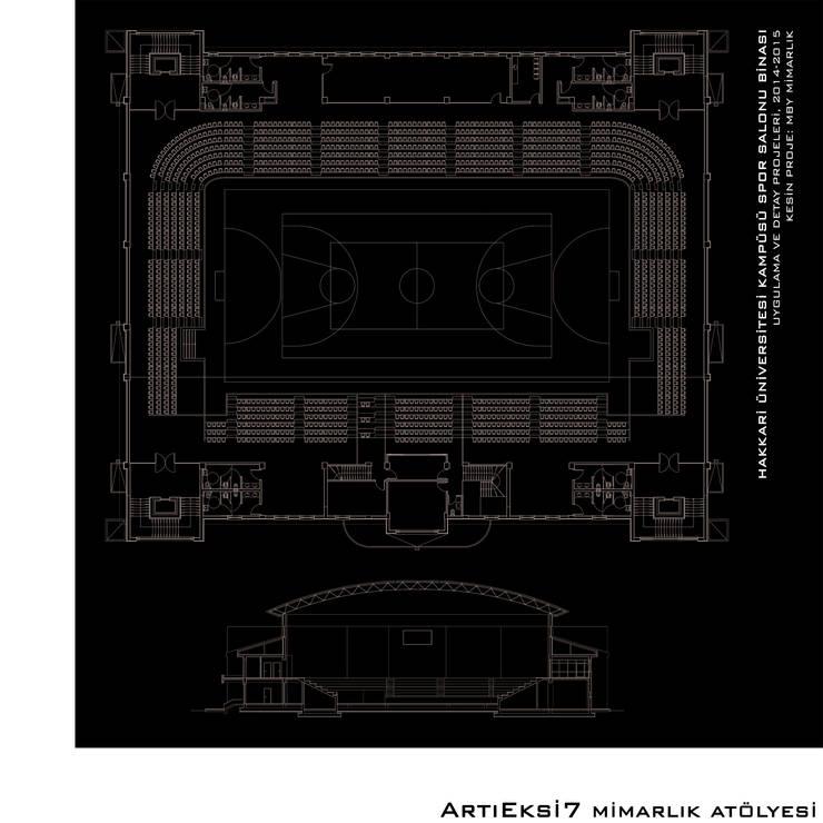 ArtıEksi7 Mimarlık Atölyesi – Hakkari Üniversitesi Spor Salonu:  tarz Okullar, Modern