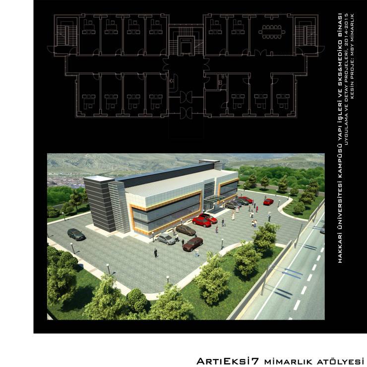ArtıEksi7 Mimarlık Atölyesi – Hakkari Üniversitesi Yapı İşleri:  tarz Okullar, Modern