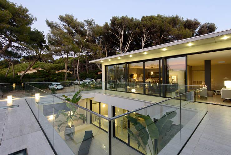 Projekty,  Taras zaprojektowane przez frederique Legon Pyra architecte