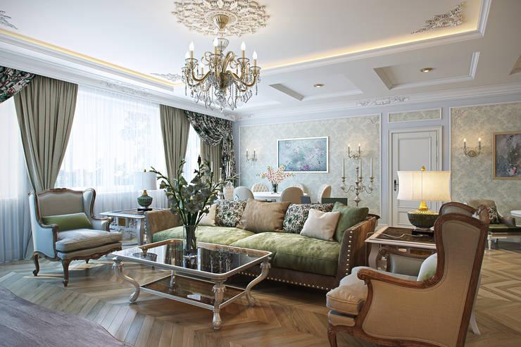 Гостиная: Гостиная в . Автор – Дарья Баранович Дизайн Интерьера