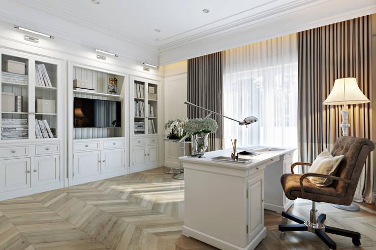 classic Study/office by Дарья Баранович Дизайн Интерьера