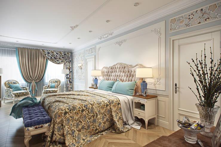 Спальня Хозяев: Спальни в . Автор – Дарья Баранович Дизайн Интерьера