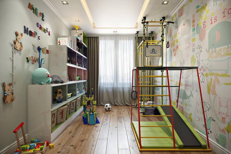 غرفة الاطفال تنفيذ Дарья Баранович Дизайн Интерьера