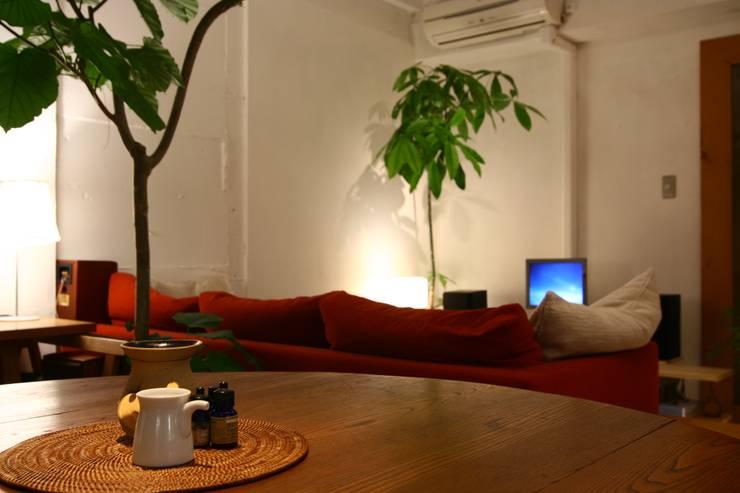 Apartment in Amizima: Mimasis Design/ミメイシス デザインが手掛けたダイニングです。