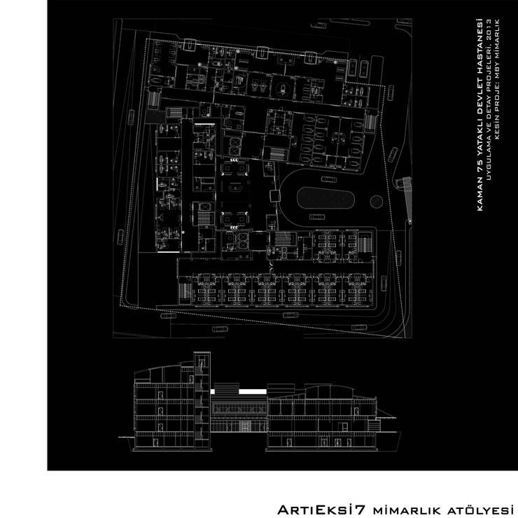 ArtıEksi7 Mimarlık Atölyesi – Kaman 75 Yataklı Devlet Hastanesi:  tarz Hastaneler