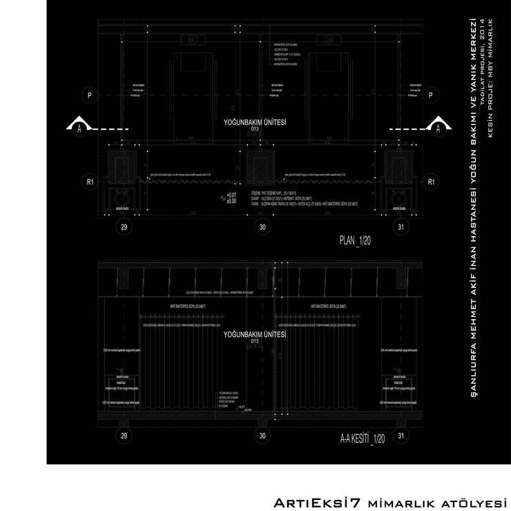 ArtıEksi7 Mimarlık Atölyesi – Şanlıurfa Mehmet Akif İnan Hastanesi Yoğun Bakım ve Yanık Merkezi:  tarz Hastaneler