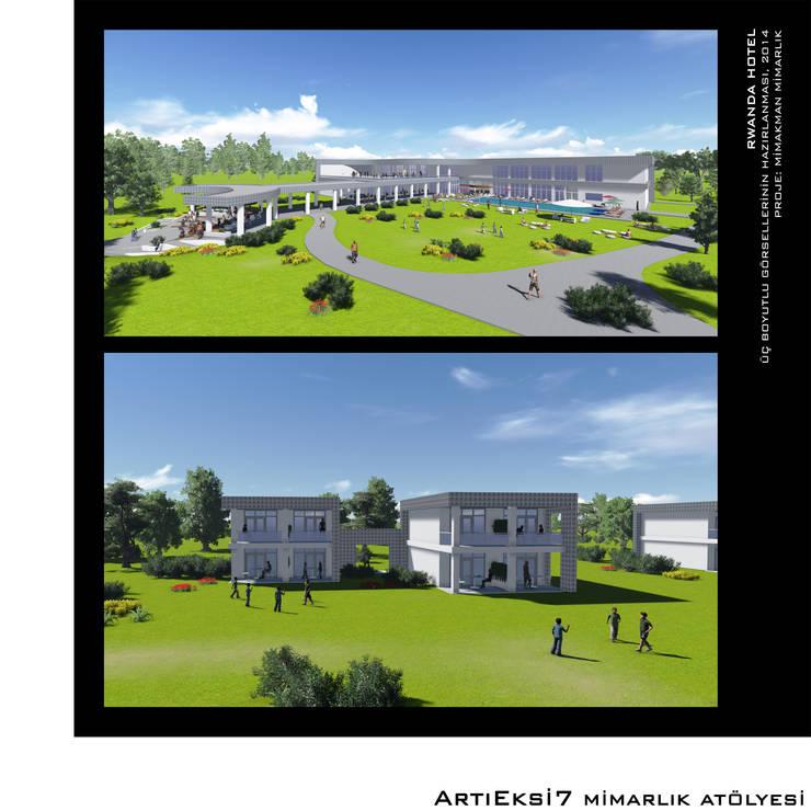 ArtıEksi7 Mimarlık Atölyesi – Rwanda Hotel:  tarz
