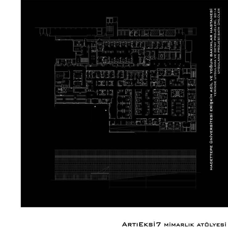 ArtıEksi7 Mimarlık Atölyesi – Hacettepe Üniversitesi Erişkin Acil ve Yoğun Bakımlar Hastanesi:  tarz Hastaneler