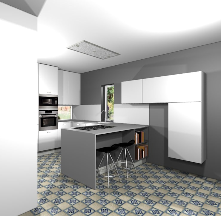 Projecto cozinha GDM: Cozinhas  por 3dogma mobiliário de cozinha