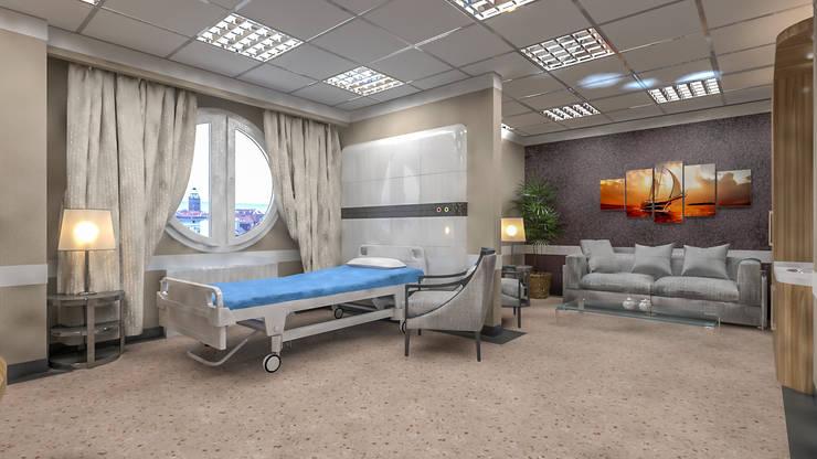 Hüseyin içli – hastane: modern tarz , Modern Ahşap Ahşap rengi