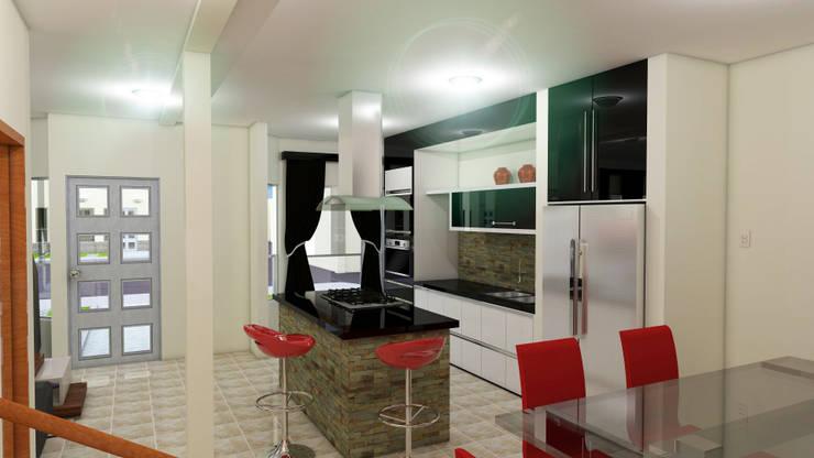 Proyecto Villa Saamar.: Cocinas de estilo  por Arq. Susan W. Jhayde