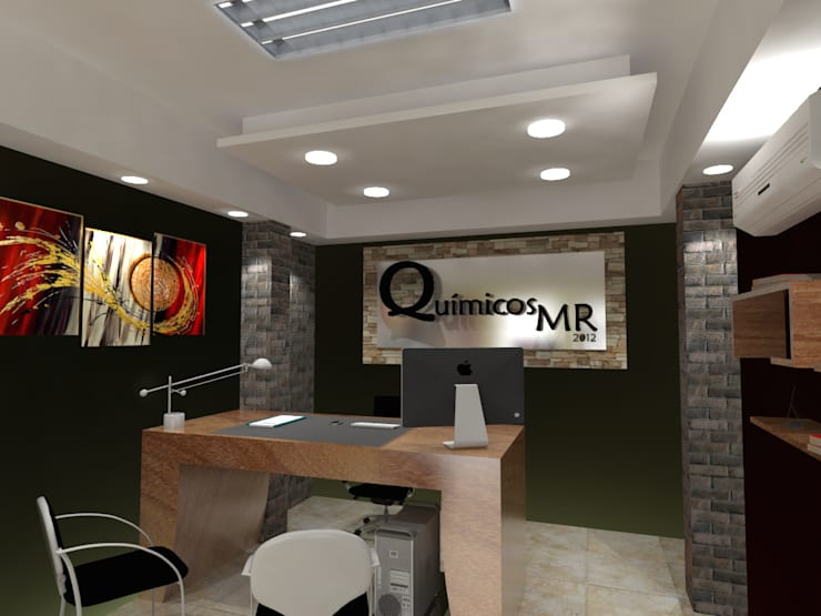 Proyecto de remodelacion para oficina.: Oficinas de estilo moderno por Arq. Susan W. Jhayde