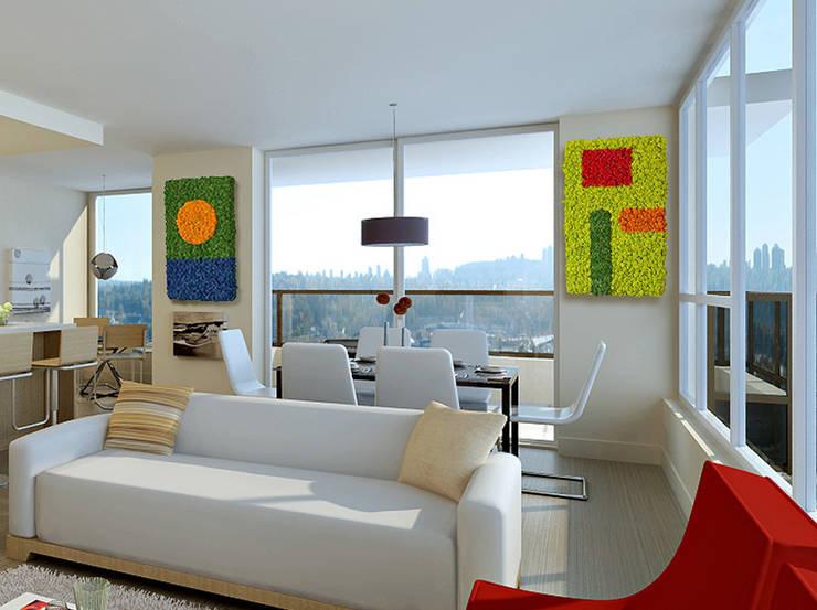 Zielone ściany z mchu Moss Trend®: styl , w kategorii Salon zaprojektowany przez BandIt Design