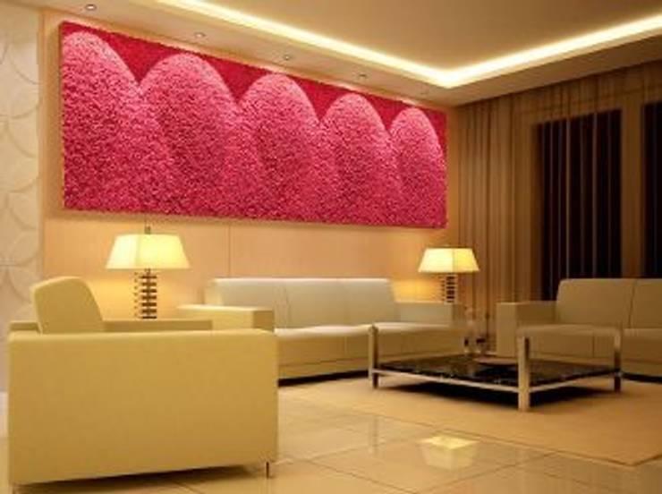 Różowe ściany z mchu Moss Trend®: styl , w kategorii Domowe biuro i gabinet zaprojektowany przez BandIt Design