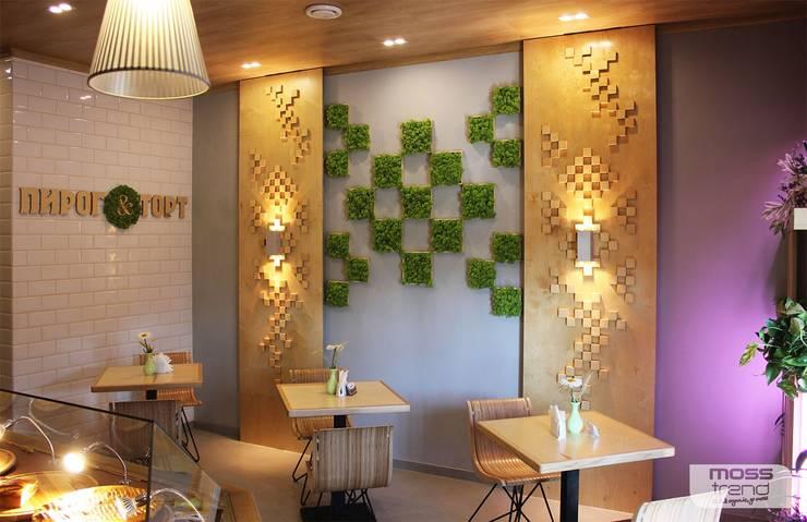 Zielone ściany z mchu Moss Trend®: styl , w kategorii Jadalnia zaprojektowany przez BandIt Design