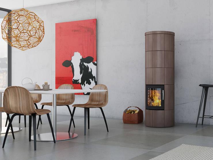 M Serie: moderne Wohnzimmer von Speicherofen Bernhard Schleicher e.K.