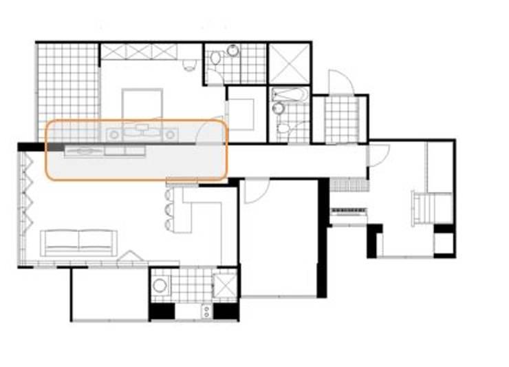 네추럴 모던을 표현한 인테리어: 퍼스트애비뉴의 현대 ,모던
