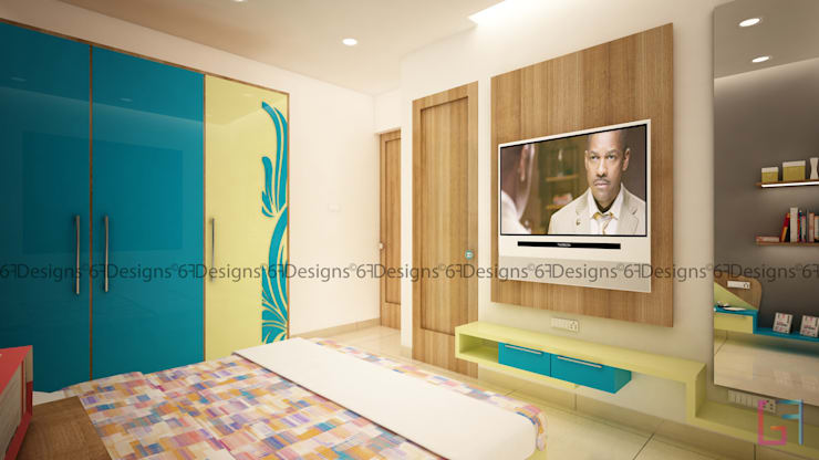 Residence of Mr. Kale: modern Bedroom by 6F Design Studio