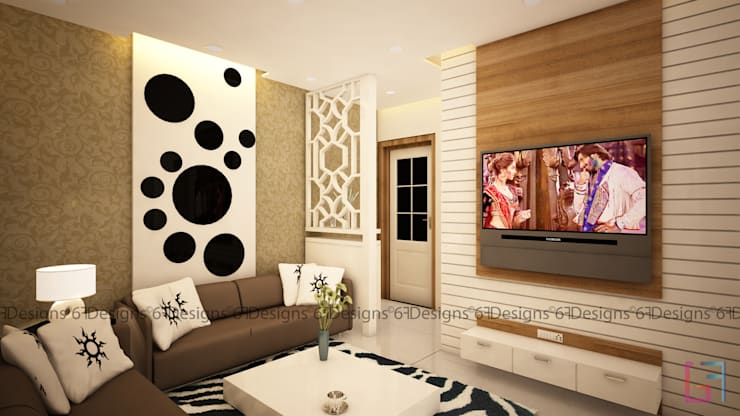 Residence of Mr. Kale: modern Living room by 6F Design Studio