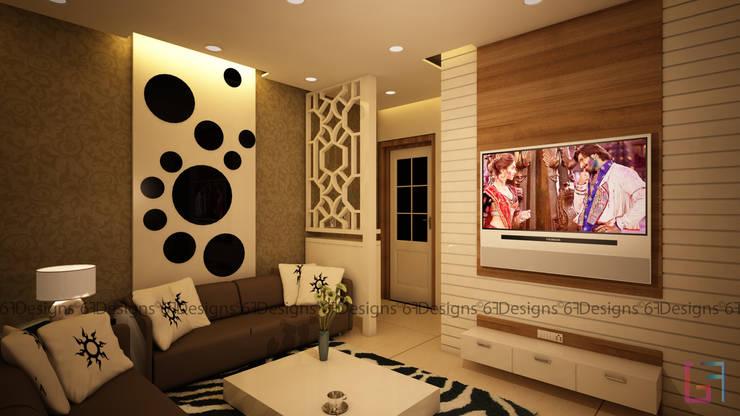Residence of Mr. Kale:  Living room by 6F Design Studio