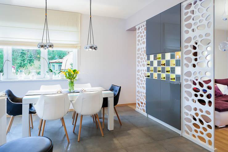 mieszkanie- Połczyn Zdrój: styl , w kategorii Jadalnia zaprojektowany przez Kameleon - Kreatywne Studio Projektowania Wnętrz