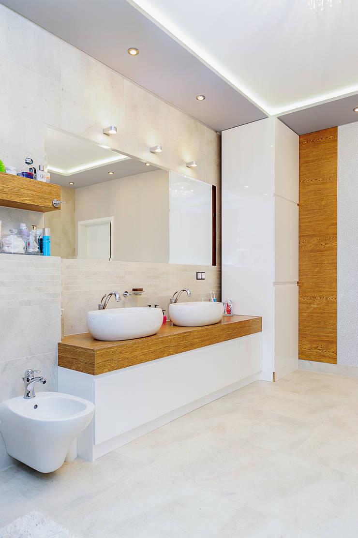 mieszkanie- Połczyn Zdrój: styl , w kategorii Łazienka zaprojektowany przez Kameleon - Kreatywne Studio Projektowania Wnętrz