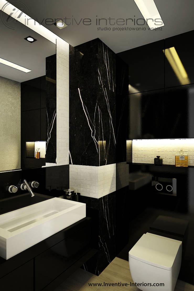 Mała łazienka przy sypialni: styl , w kategorii Łazienka zaprojektowany przez Inventive Interiors