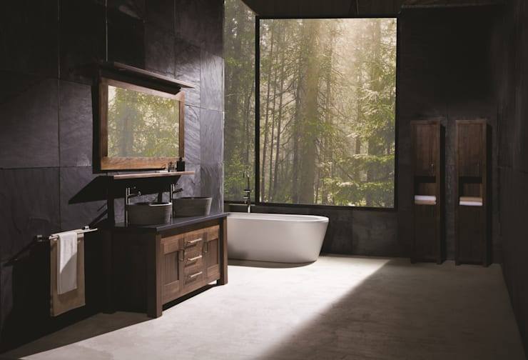 Ванные комнаты в . Автор – Stonearth Interiors Ltd