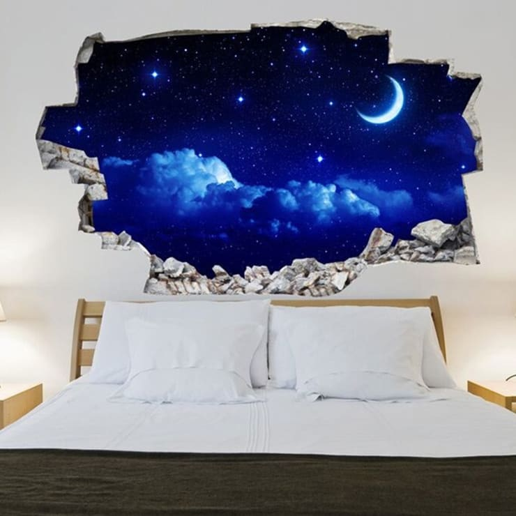 3d Vinyl Wandsticker Nachthimmel Von Lesara Homify