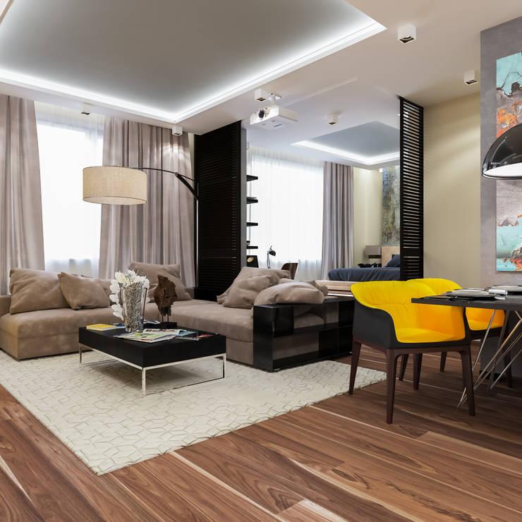 дизайн интерьера гостиной: Гостиная в . Автор – INTERIERIUM