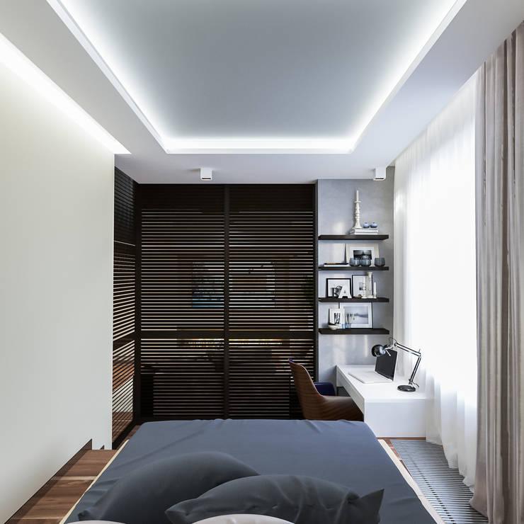 minimalistic Bedroom by INTERIERIUM