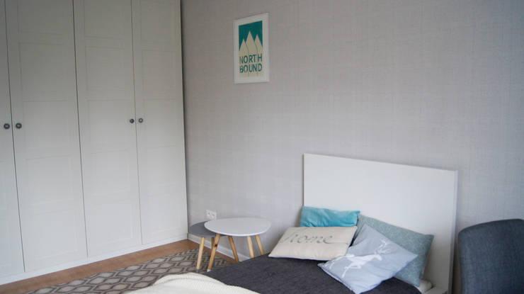 Sypialnia w stylu skandynawskim: styl , w kategorii Sypialnia zaprojektowany przez JUSSS