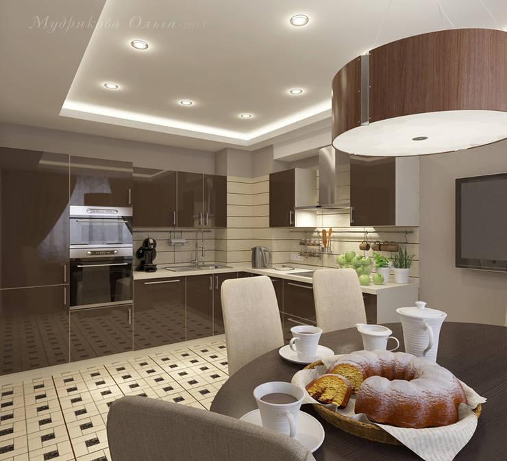 Design interior OLGA MUDRYAKOVA의  주방