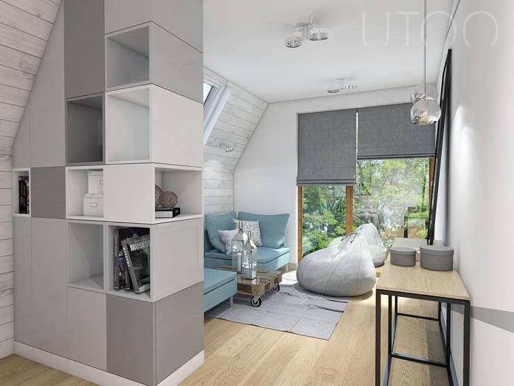 Chambre de style  par UTOO-Pracownia Architektury Wnętrz i Krajobrazu